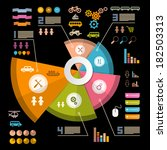 infographics layout with icons  ... | Shutterstock . vector #182503313