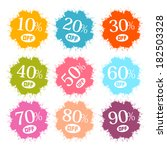 colorful discount labels ... | Shutterstock . vector #182503328