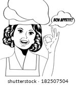 pop art woman cook ... | Shutterstock .eps vector #182507504