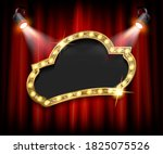 stage curtain inside a wide... | Shutterstock . vector #1825075526