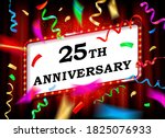25 years. with the anniversary. ... | Shutterstock . vector #1825076933