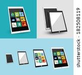 3d tablet responsive flat ui...