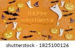 view of a halloween paper... | Shutterstock . vector #1825100126