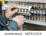 hands of electrician with... | Shutterstock . vector #182511314