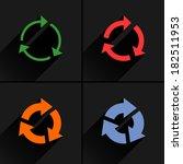 4 arrow icon. set 03. rotation  ...