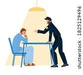 policeman interrogation... | Shutterstock .eps vector #1825129496