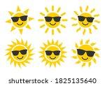 smile sun and sunglasses flat...