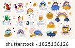 digital vector planner cute... | Shutterstock .eps vector #1825136126
