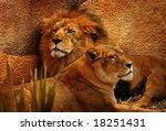 Beautiful Male And Female Lion...