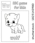Letter W Is For Wolf. Abc Game...