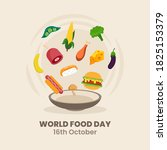 hand drawn world food day.... | Shutterstock .eps vector #1825153379