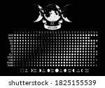 moon calendar  2021 year  lunar ... | Shutterstock .eps vector #1825155539