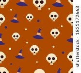 halloween seamles pattern with... | Shutterstock .eps vector #1825172663