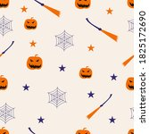 halloween seamles pattern with... | Shutterstock .eps vector #1825172690