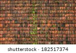 red tile. detail of the roof of ... | Shutterstock . vector #182517374