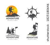 climber expedition adventure... | Shutterstock .eps vector #1825180646
