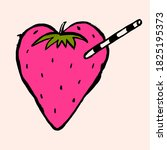 red berry strawberry and the...   Shutterstock .eps vector #1825195373