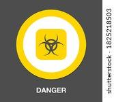 danger icon. flat illustration... | Shutterstock .eps vector #1825218503