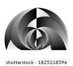 abstract halftone lines... | Shutterstock .eps vector #1825218596