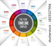 full year timeline template... | Shutterstock .eps vector #1825227506