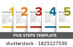 one two three four five vector... | Shutterstock .eps vector #1825227530