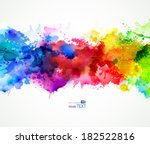 bright watercolor stains  | Shutterstock .eps vector #182522816