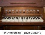 Closeup View Of Keyboard Of Ol...