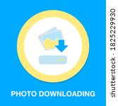 photo album downloading icon....   Shutterstock .eps vector #1825229930