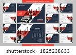 desk calendar 2021 template  ... | Shutterstock .eps vector #1825238633