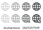 globe icon set. vector... | Shutterstock .eps vector #1825257539