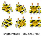 road sign under construction.... | Shutterstock .eps vector #1825268780