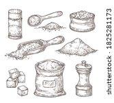 salt sketch. hand draw spice ...   Shutterstock .eps vector #1825281173