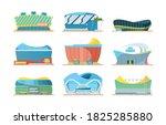 stadium exterior. sport... | Shutterstock .eps vector #1825285880