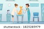 veterinarian clinic. doctor in... | Shutterstock .eps vector #1825285979