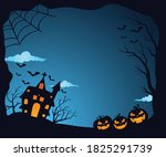 halloween haunted house with...   Shutterstock .eps vector #1825291739