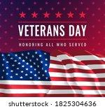 veterans day. honoring all who... | Shutterstock .eps vector #1825304636