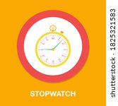 stopwatch icon   simple  vector ...
