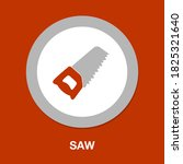 saw icon   simple  vector  icon ...
