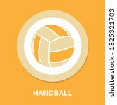 handball icon   simple  vector  ...