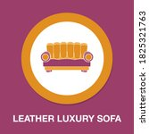 leather luxury sofa icon  ...