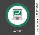 laptop icon   simple  vector ...