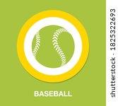 baseball icon   simple  vector  ...