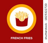 french fries icon   simple ...