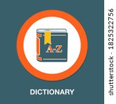 dictionary flat icon   simple ...