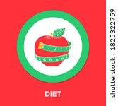 diet icon   simple  vector ...