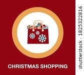 christmas shopping icon  ...
