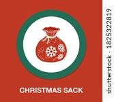 christmas sack icon   simple ...