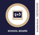 school board flat icon   simple ...
