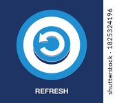 refresh flat icon   simple ...