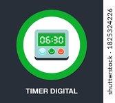 timer digital flat icon  ...